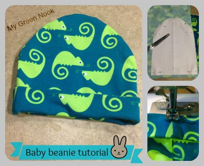 Baby beanie tutorial - My Green Nook 70478951128